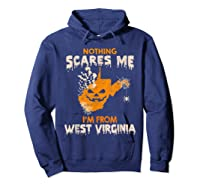 Nothing Scares Me I'm From West Virginia Shirts Hoodie Navy