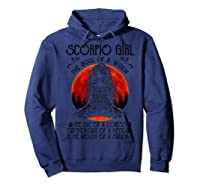 Scorpio Girl The Soul Of A Witch Tshirt Halloween Gift Hoodie Navy