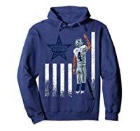 Cow Nation Of Legends American Flag For T Shirt Hoodie Navy