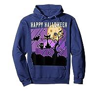 Spoopy Funny Halloween Black Cat Witch Hallow S Eve Joke T Shirt Hoodie Navy