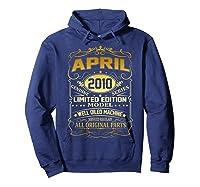April 2010 Vintage 9th Birthday 9 Years Old Gift Shirt Hoodie Navy