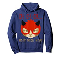 Ch Ch Ch Meow Meow Halloween Scary Cat Gifts Shirts Hoodie Navy