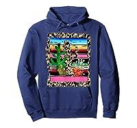 Fiesta Serape Cheetah Cactus Flower Cacti Rabbit T Shirt Hoodie Navy