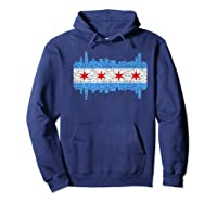 City Of Chicago Shirt Chicago City Vintage Flag Premium T Shirt Hoodie Navy