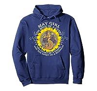 May Girl The Soul Of A Mermaid Tshirt Birthday Gifts Hoodie Navy