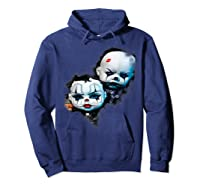 Creepy Evil Clown Halloween T-shirt Hoodie Navy