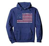 American Bennington Flag United States Of America 1776 Shirt Hoodie Navy