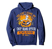 You Can't Scare Me I Am A Chief Brand Officer Halloween Shirts Hoodie Navy