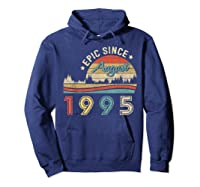 Epic Since August 1995 Tshirt 24 Years Old Shirt Birthday Gi Hoodie Navy