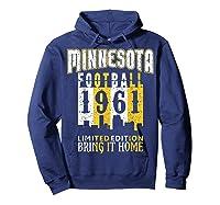 Minnesota 1961 Skyline Throwback Football Shirts Hoodie Navy