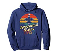 Vintage Saints Awesome Since 1967 New Orleans Football Retro Shirts Hoodie Navy