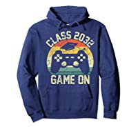 Kindergarten 2019 Class Of 2032 Game On Gamer, Grow With Me Shirts Hoodie Navy