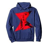 Marvel Black Widow Portrait Logo Overlay T-shirt Hoodie Navy