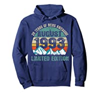 Born August 26 Limited Edition Bday Gift 26th Birthday Shirts Hoodie Navy