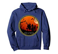 Friends Horror Scary Halloween T Shirt For  Hoodie Navy