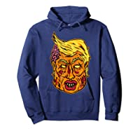 Cool And Creative Zombie Donald Trump T-shirt Hoodie Navy