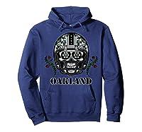Oakland Football Helmet Sugar Skull Day Of The Dead T Shirt Hoodie Navy
