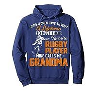 My Favorite Rugby Player Calls Me Grandma Gift For Nana Shirts Hoodie Navy