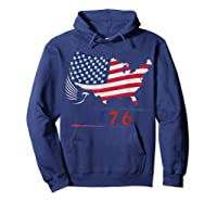 B Ross 1776 American Flag Eagle 4th Of July Shirts Hoodie Navy