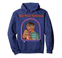 Eat Your Unicorn Meat T-shirt Hoodie Navy