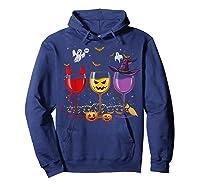Three Glasses Of Wines Funny Halloween Wine Lover Shirts Hoodie Navy