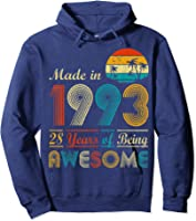 Made In 1993 Vintage Retro 28 Years Old 28th Birthday Gifts T-shirt Hoodie Navy