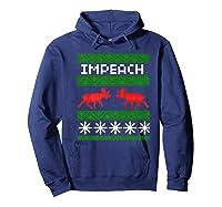 Impeach Christmas T Shirt Anti Trump Tee Hoodie Navy