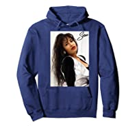 Selenas Vintage Distressed Classic Shirts Hoodie Navy