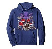 Octopus Drumming Cute Sea Drummer Lover Funny Gift Shirts Hoodie Navy