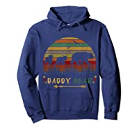 Daddy Bear With Two Cups Retro Gift For Father S Day T Shirt Hoodie Navy