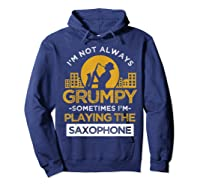 Playing The Saxophone Marching Band Jazz Music Shirts Hoodie Navy
