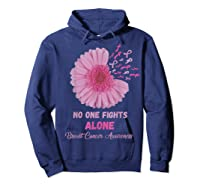 Breast Cancer Awareness Month Pink Ribbons Flower T T Shirt Hoodie Navy