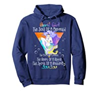 April Girl The Soul Of A Mermaid The Fire Of A Lioness Shirts Hoodie Navy
