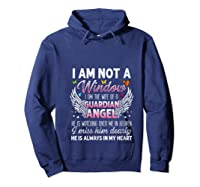 I Am Not A Widow I Am The Wife Of A Guardian Angel Butterfly Shirts Hoodie Navy