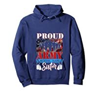 Proud Army National Guard Sister Mothers Day Shirt T-shirt Hoodie Navy