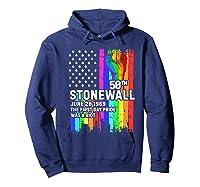 Stonewall Riots 50th Lbgtq Gay Pride American Flag Shirts Hoodie Navy
