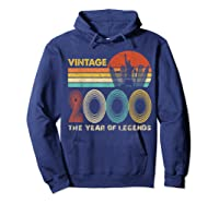 19th Birthday Gift Vintage 2000 T-shirt 19 Years Old T-shirt Hoodie Navy