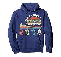 Epic Since August 2008 Tshirt 11 Years Old Shirt Birthday Gi Hoodie Navy