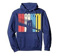 Vintage Brooklyn New York Skyline Retro Ny Shirt Gift Tee Hoodie Navy