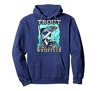 Funny Trout Fishing, Fish Fisherman Gifts Baseball Shirts Hoodie Navy