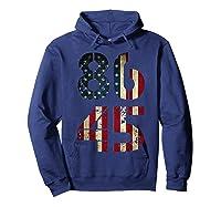 8645 Impeach Trump American Flag T Shirt Hoodie Navy