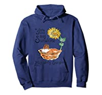 You Are My Sunshine Scotch Collie T Shirt, Sunflower And Sco Hoodie Navy