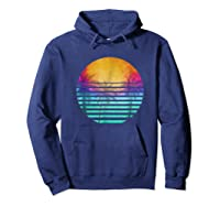 Vintage 80's Florida Beach Sunset Retro Shirts Hoodie Navy