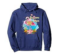 Pink Flamingo Believe Hope Breast Cancer Awareness Month Premium T Shirt Hoodie Navy