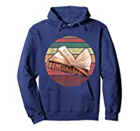 Bookworm Vintage Retro Bookish Reading Read A Book Day Gift T Shirt Hoodie Navy