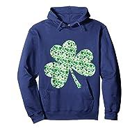 Shamrock T Shirt Saint Patricks Day Hoodie Navy