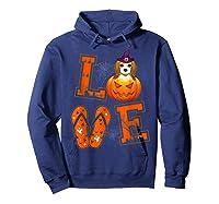 Love Beagle Pumpkin Halloween T-shirt Halloween Gifts Hoodie Navy