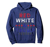 Red And Trump Usa Flag 2020 Election Donald Trump Shirts Hoodie Navy