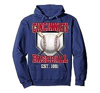 Cincinnati Baseball Retro Vintage Baseball Design Shirts Hoodie Navy