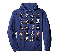 Friends Cartoon Halloween Character Scary Horror Movies T Shirt Hoodie Navy
